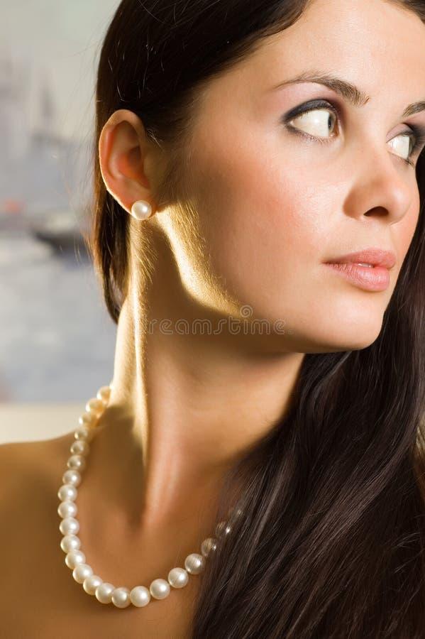 Retrato da mulher bonita nova foto de stock royalty free