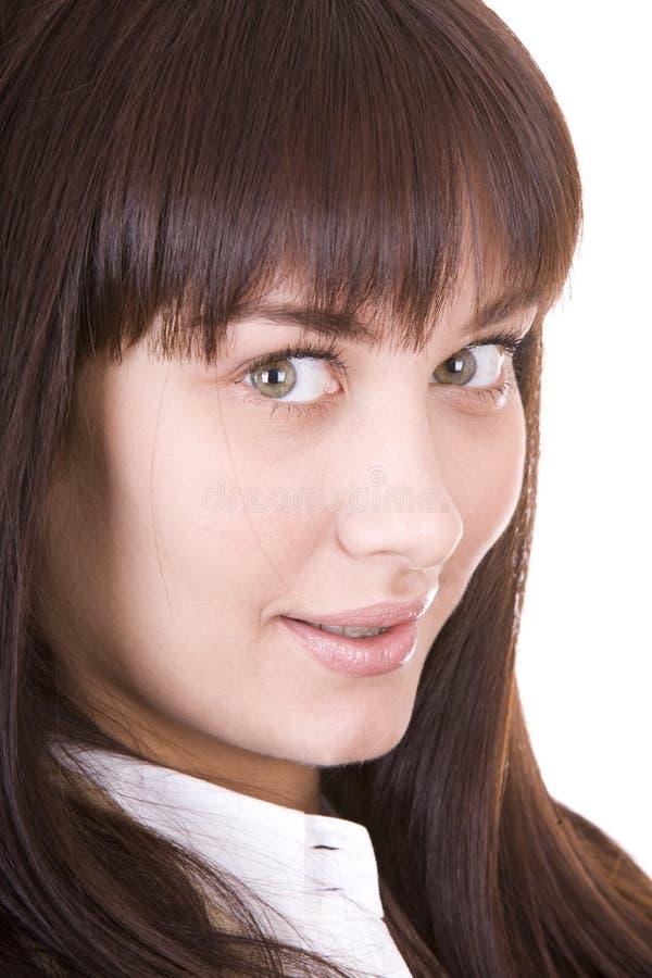 Retrato da mulher bonita nova. fotografia de stock