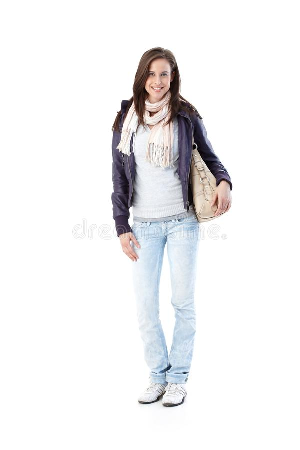 Retrato da mulher consideravelmente na moda imagens de stock