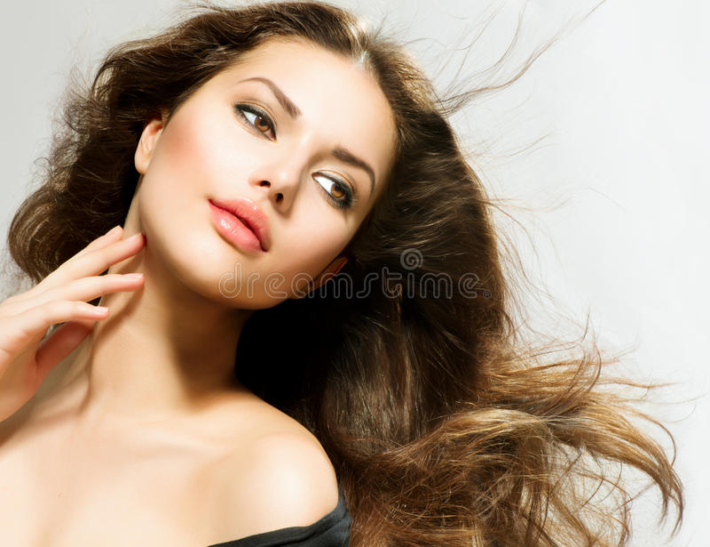 Retrato da mulher da beleza fotos de stock