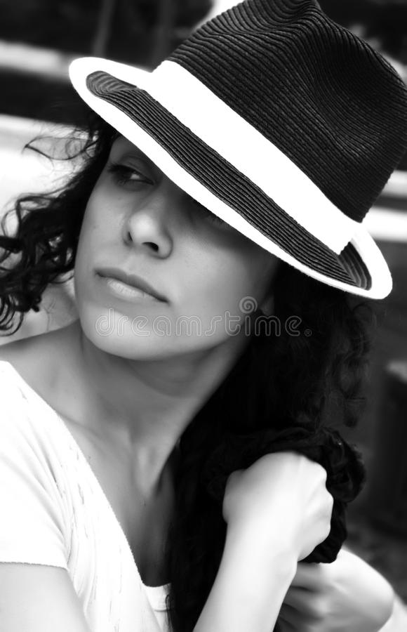 Retrato da mulher da forma foto de stock