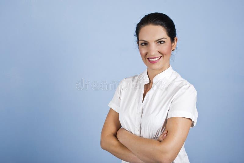 Retrato da mulher de negócio atrativa fotos de stock