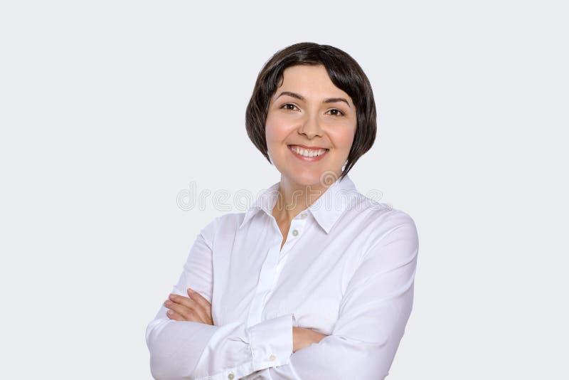Retrato da mulher de negócio misturado fotografia de stock