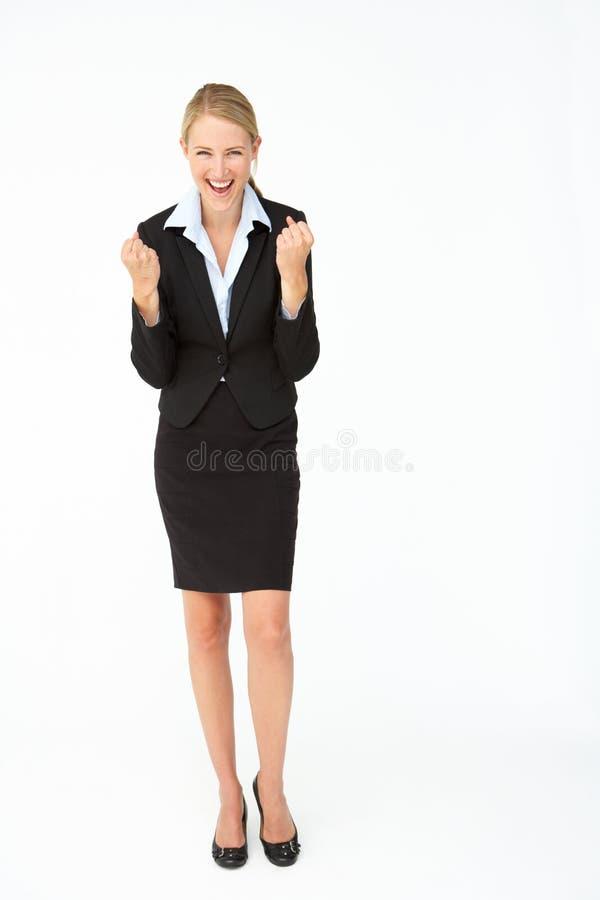 Retrato da mulher de negócio no terno foto de stock
