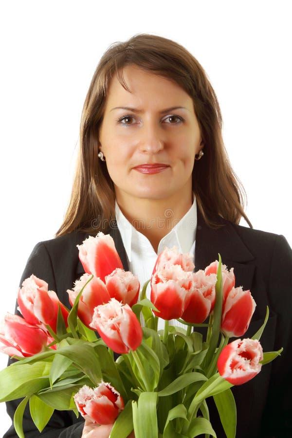 Retrato da mulher de negócio nova imagens de stock