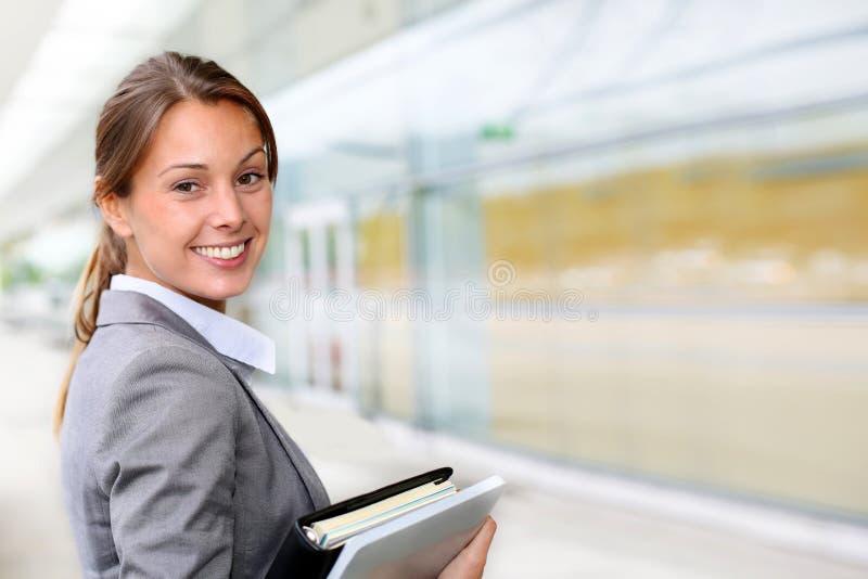 Retrato da mulher de negócios foto de stock royalty free