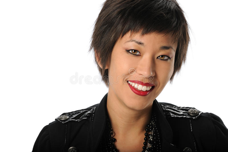 Retrato da mulher de negócios americana asiática foto de stock