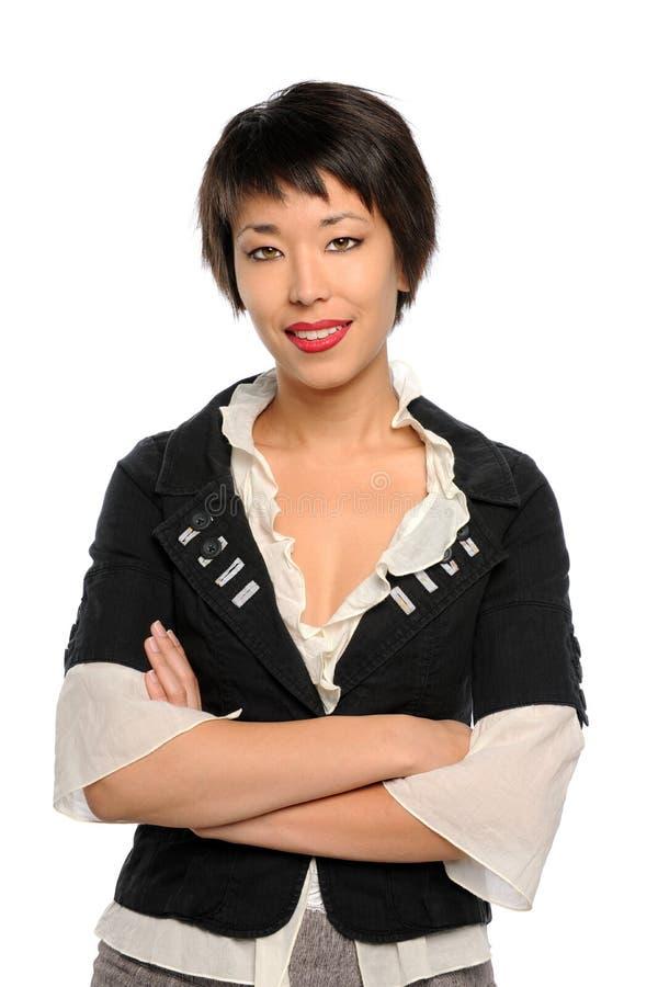 Retrato da mulher de negócios asiática imagens de stock