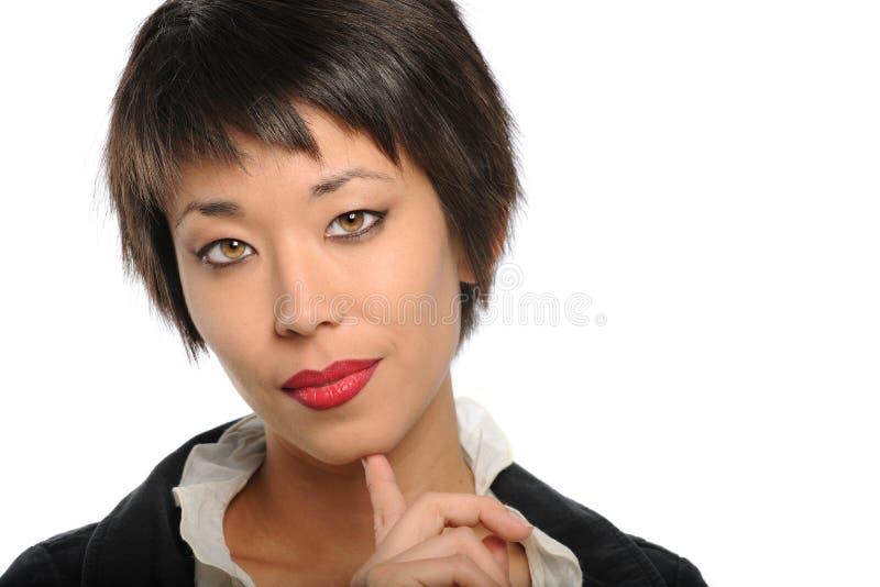 Retrato da mulher de negócios asiática fotografia de stock
