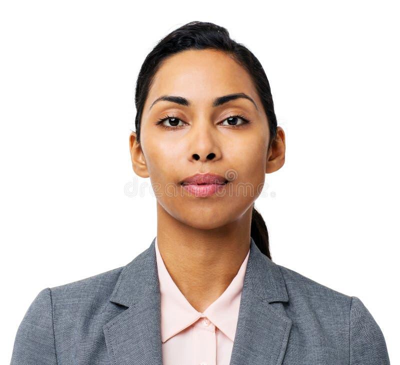 Retrato da mulher de negócios nova segura fotos de stock royalty free