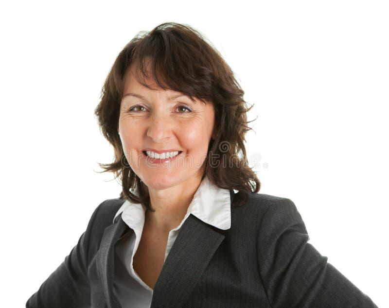 Retrato da mulher de negócios sênior sucessful foto de stock