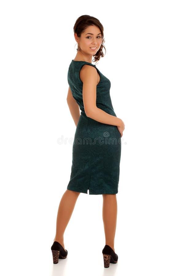 Retrato de slimming a jovem mulher foto de stock