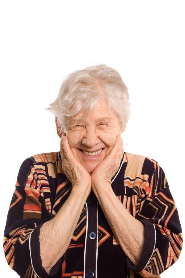 Retrato da mulher de sorriso idosa foto de stock royalty free