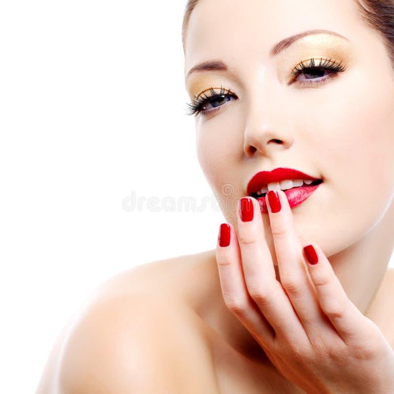 Retrato da mulher do encanto da sensualidade imagem de stock royalty free