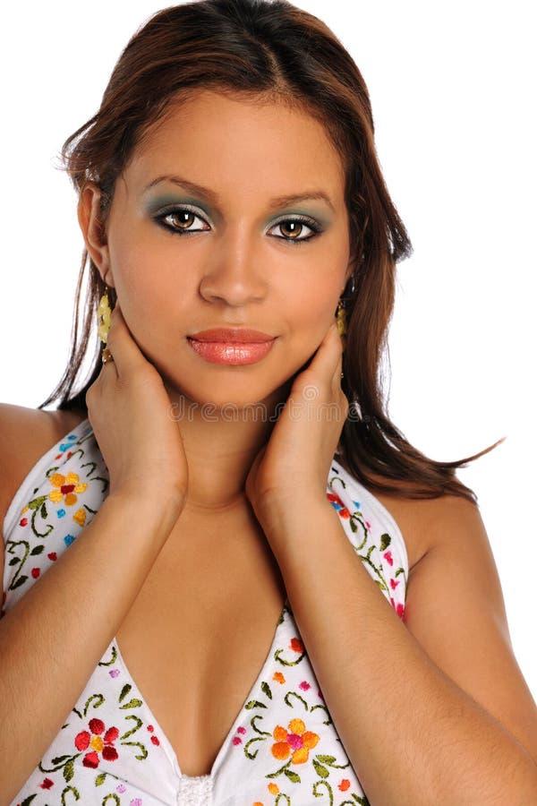 Retrato da mulher do hispânico de Yougn fotografia de stock