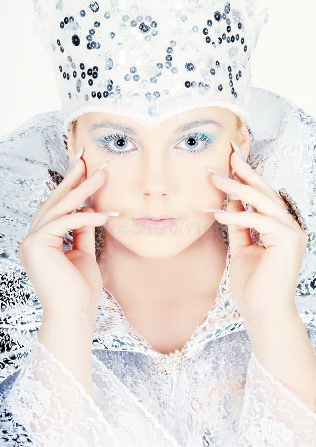 Retrato da mulher do inverno fotos de stock royalty free