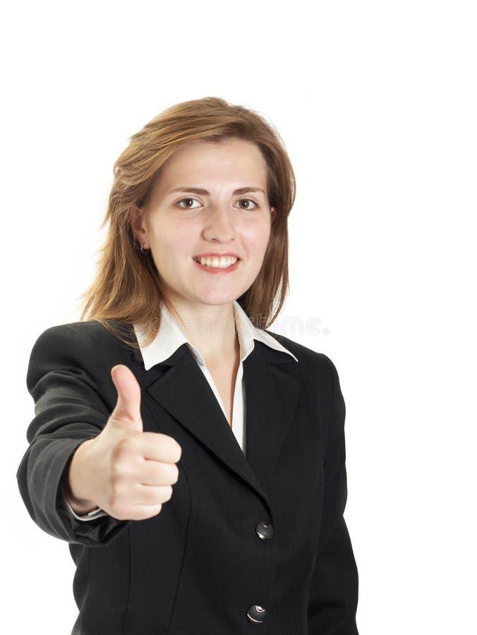 Retrato da mulher em um fundo branco imagem de stock royalty free