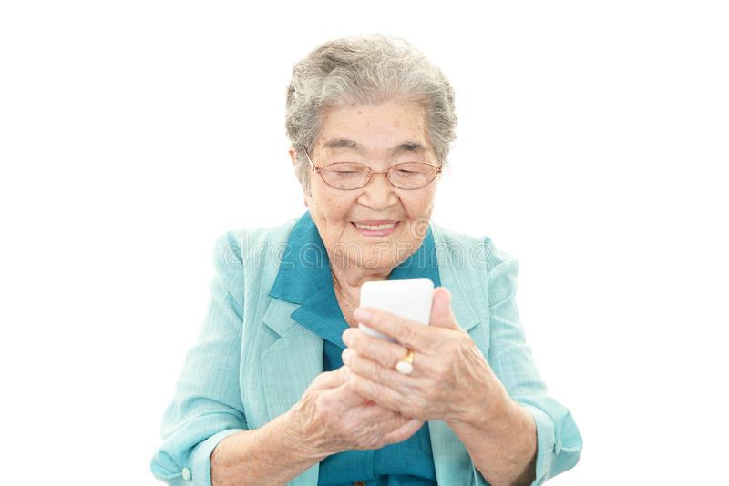 Retrato da mulher envelhecida bonita fotos de stock royalty free