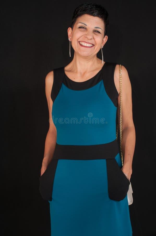 Retrato da mulher envelhecida média bonita fotos de stock royalty free