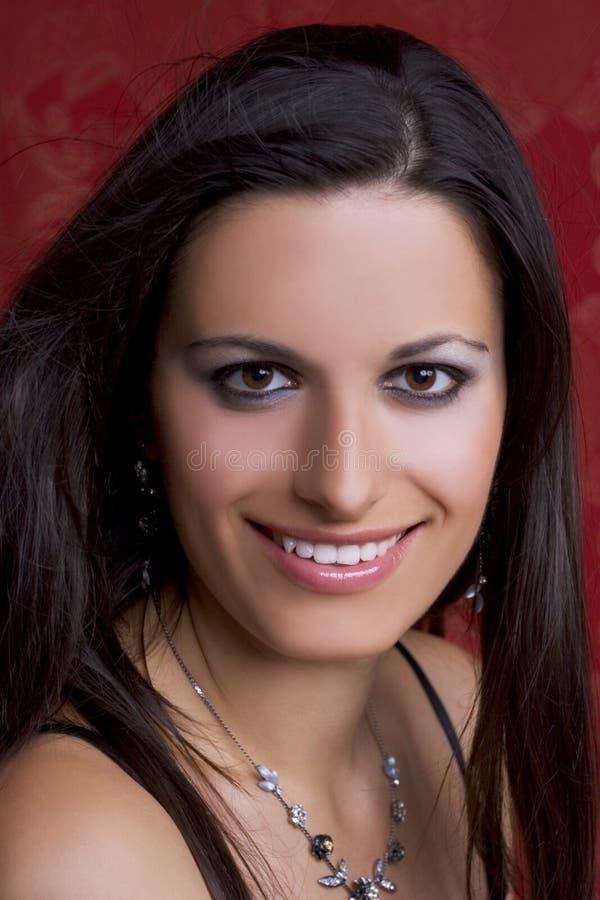 Retrato da mulher feliz fotografia de stock royalty free