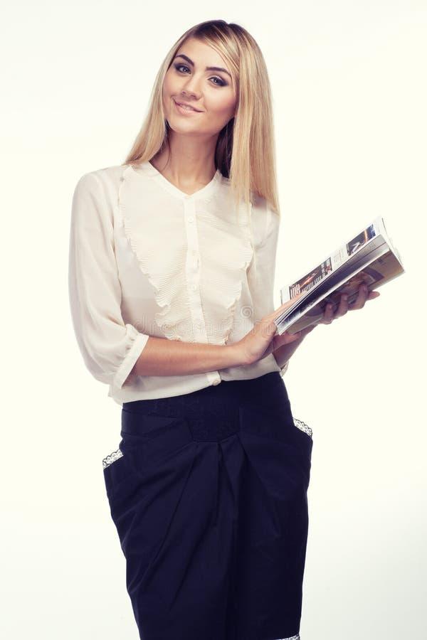 Retrato da mulher com compartimento do curso fotos de stock royalty free