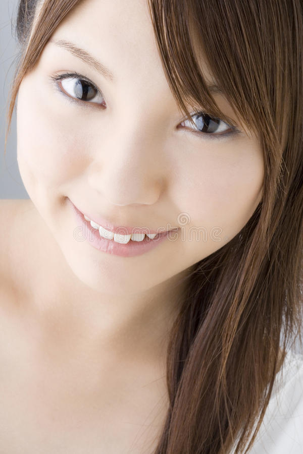 Retrato da mulher japonesa fotografia de stock