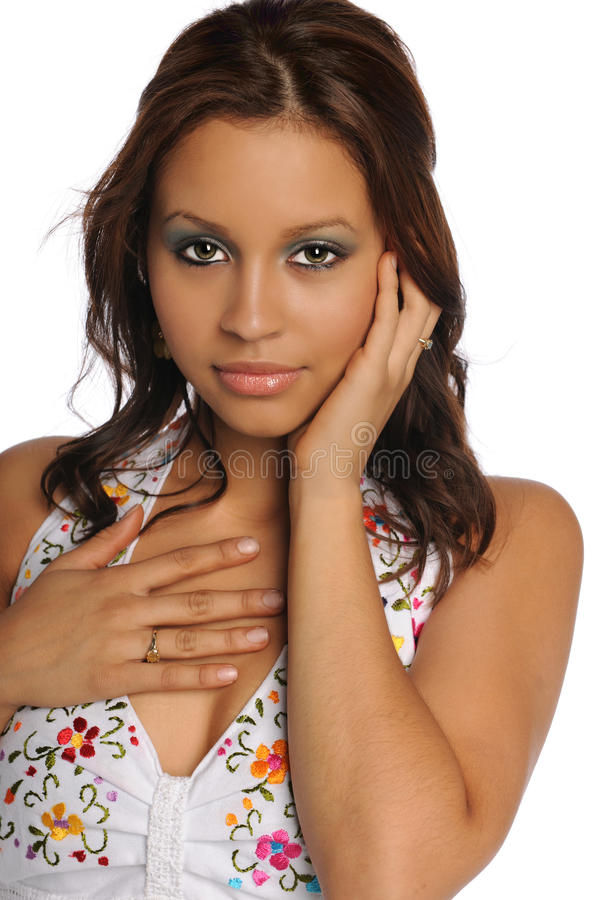 Retrato da mulher latino-americano foto de stock