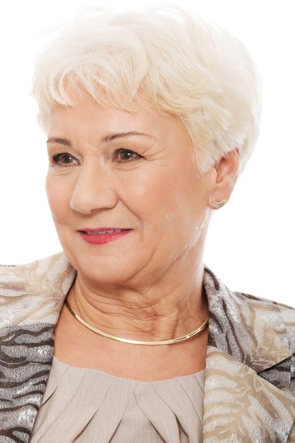 Retrato da mulher mais idosa. imagens de stock royalty free