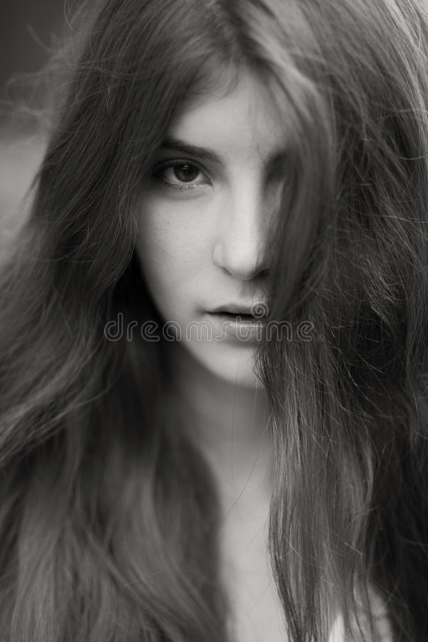 Retrato da mulher natural bonita fotos de stock