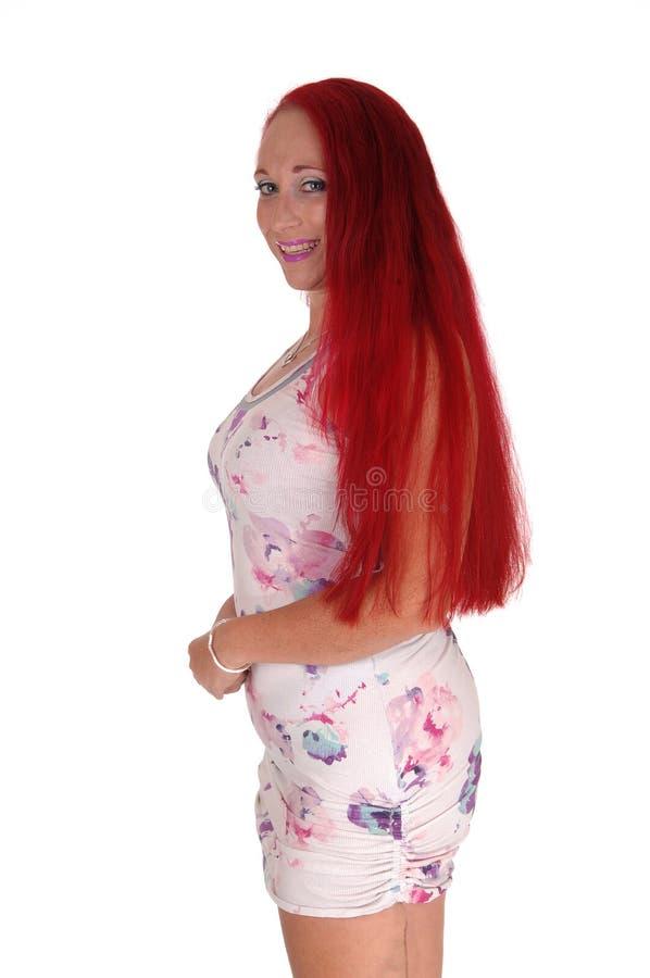 Retrato da mulher no vestido do verão imagem de stock royalty free