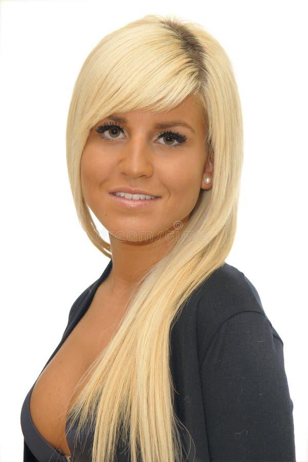 Retrato da mulher nova foto de stock