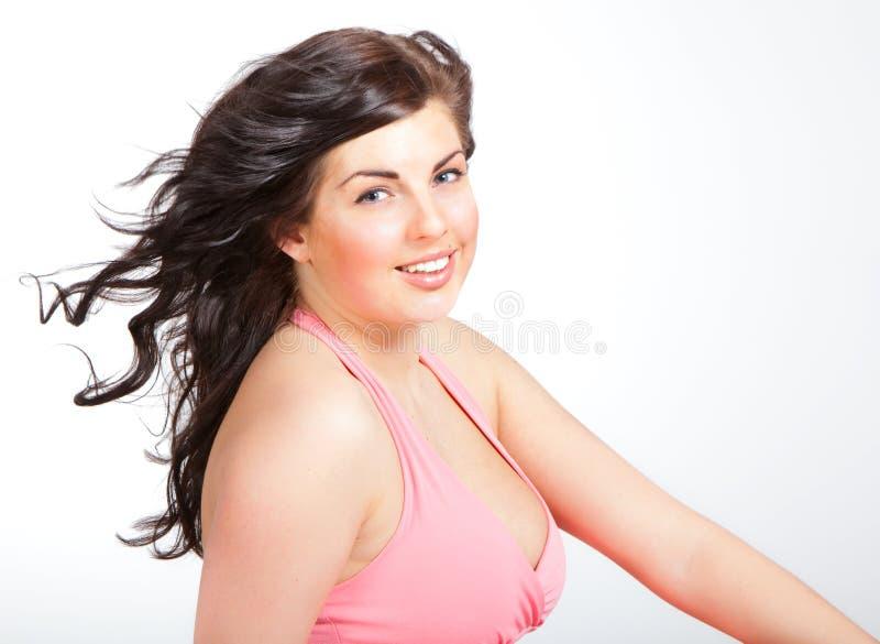 Download Retrato Da Mulher Nova Atrativa Imagem de Stock - Imagem de quente, divertimento: 12803599