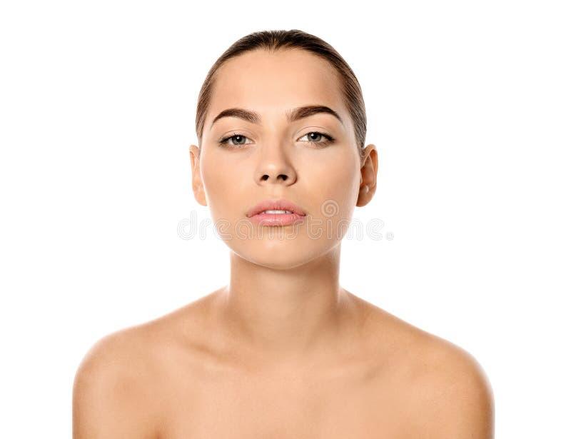 Retrato da mulher nova bonita imagens de stock royalty free