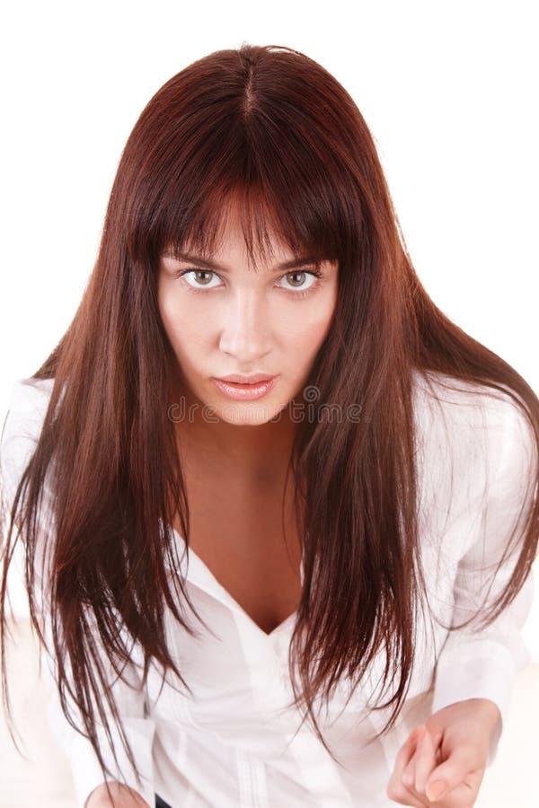 Retrato da mulher nova bonita. imagem de stock royalty free