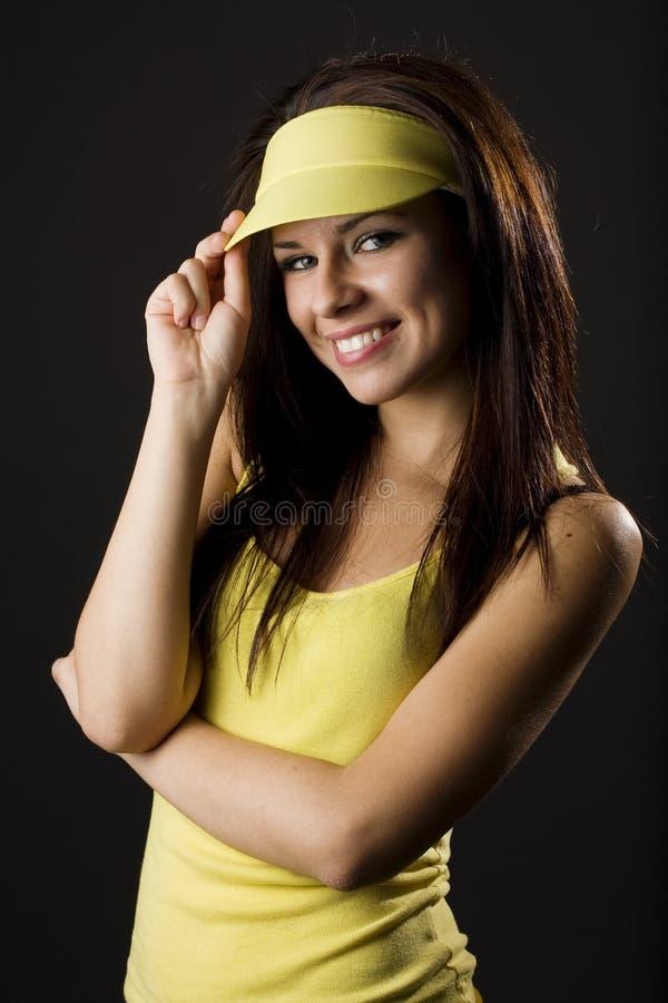 Retrato da mulher nova bonita imagem de stock