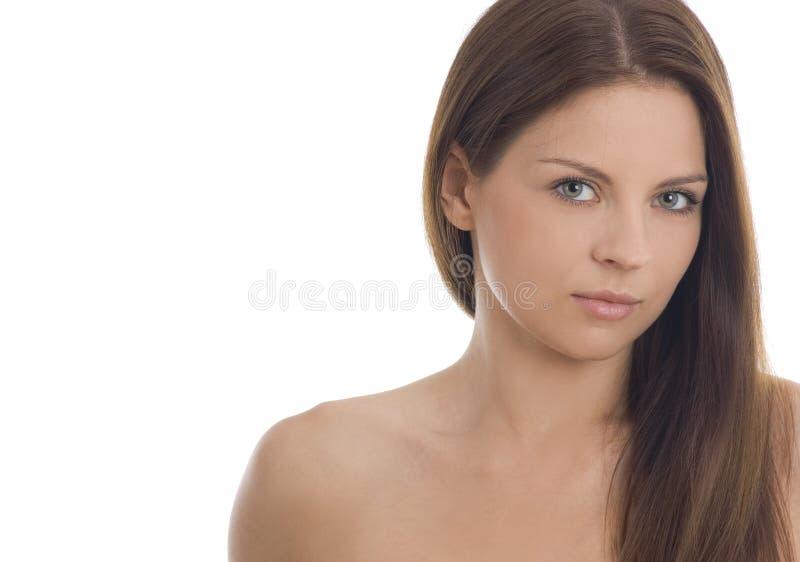 Retrato da mulher nova bonita atrativa fotografia de stock
