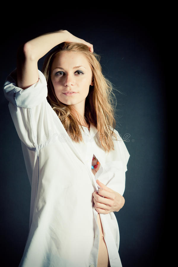 Retrato da mulher nova 'sexy' foto de stock