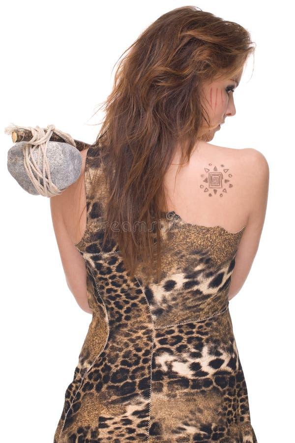 Download Retrato Da Mulher Selvagem Nova Com Martelo De Pedra Imagem de Stock - Imagem de glamour, faça: 12806973