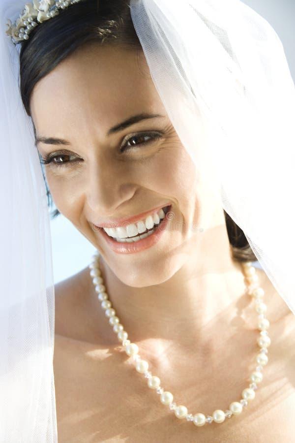 Retrato da noiva. foto de stock