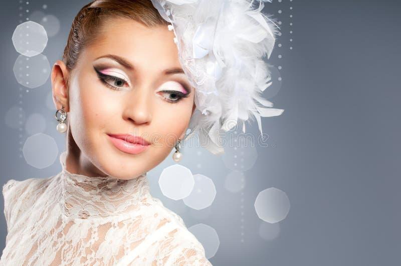 Retrato Da Noiva Da Beleza Fotografia de Stock