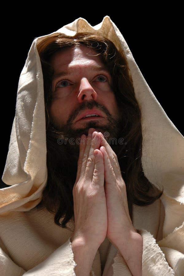 Retrato da oração de Jesusin foto de stock