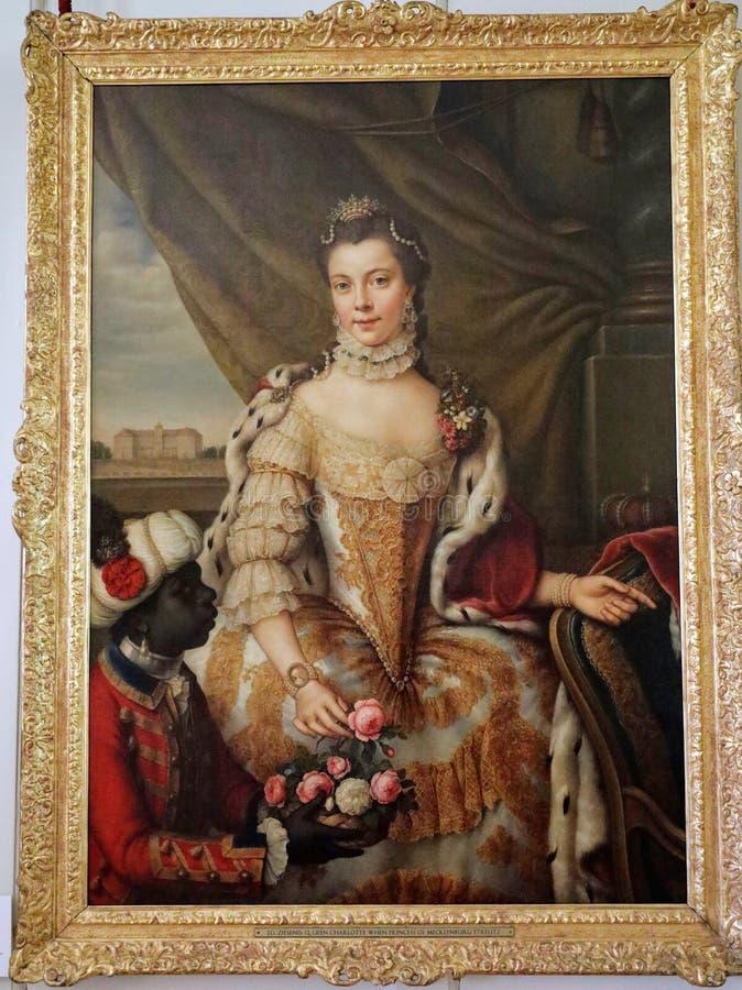 Retrato da rainha Charlotte fotografia de stock