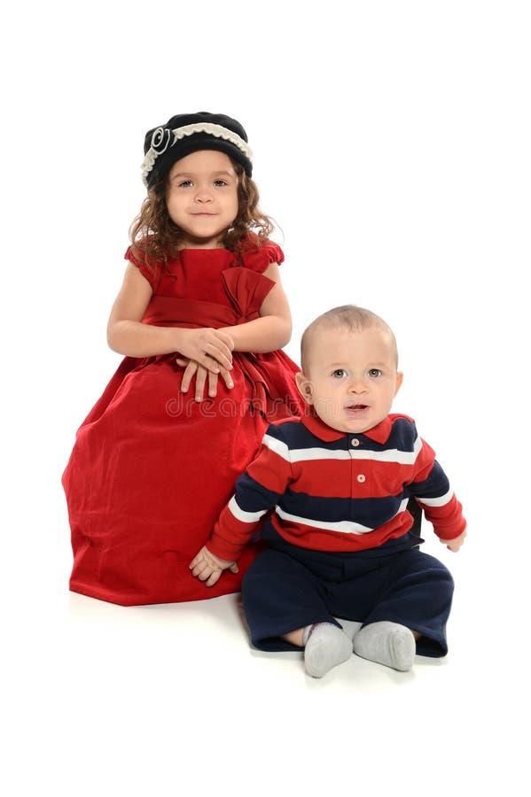 Retrato da rapariga e do menino imagens de stock royalty free