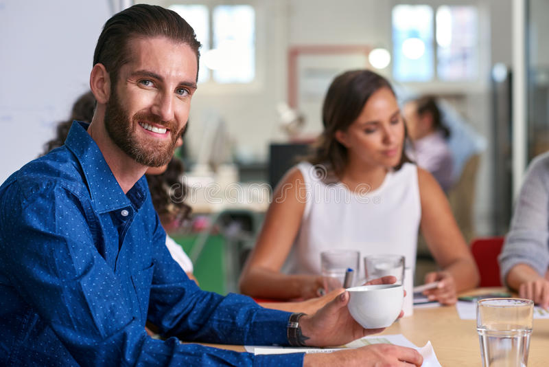 Retrato da reunião do homem de negócios fotos de stock royalty free