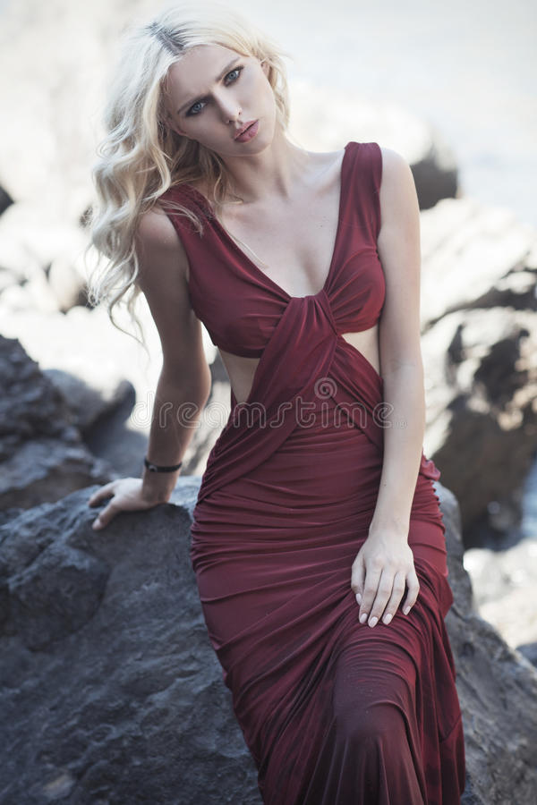 Retrato da senhora bonito loura imagem de stock royalty free