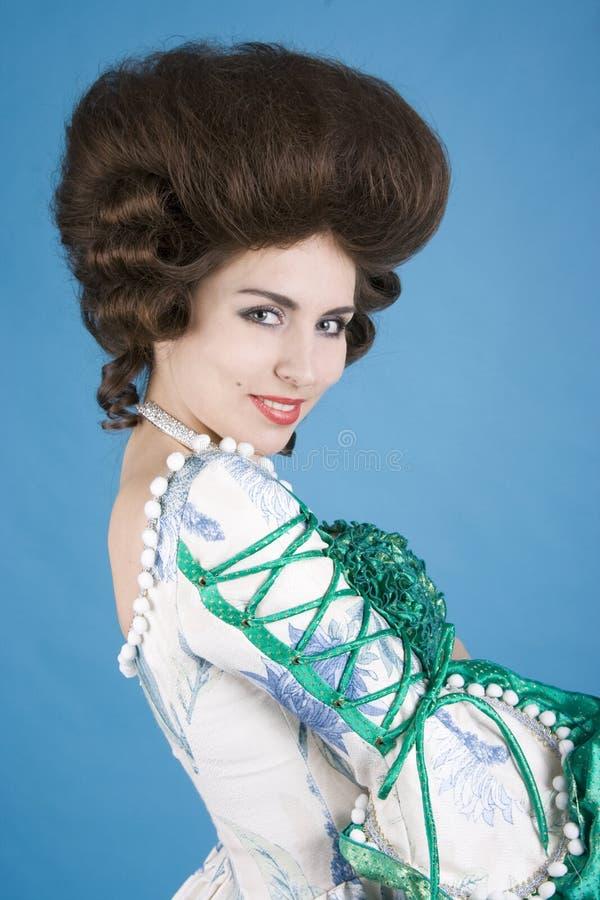 Retrato da senhora do Coquette fotografia de stock royalty free