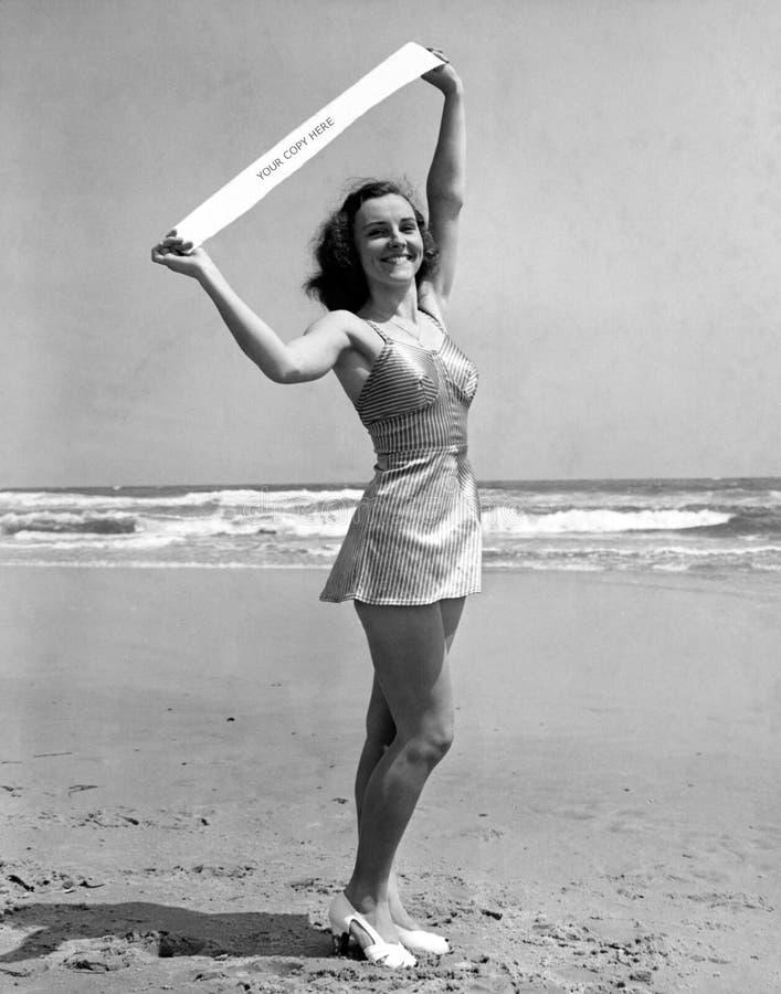 Retrato da senhorita Atlantic City 1940 (todas as pessoas descritas não são umas vivas mais longo e nenhuma propriedade existe Ga imagem de stock royalty free