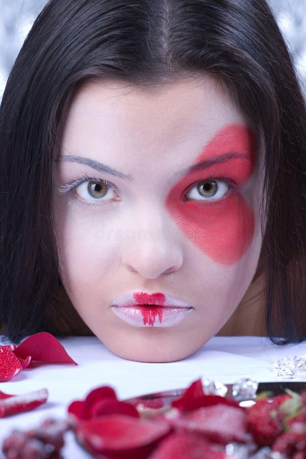 Retrato da tampa da menina bonita fotos de stock royalty free