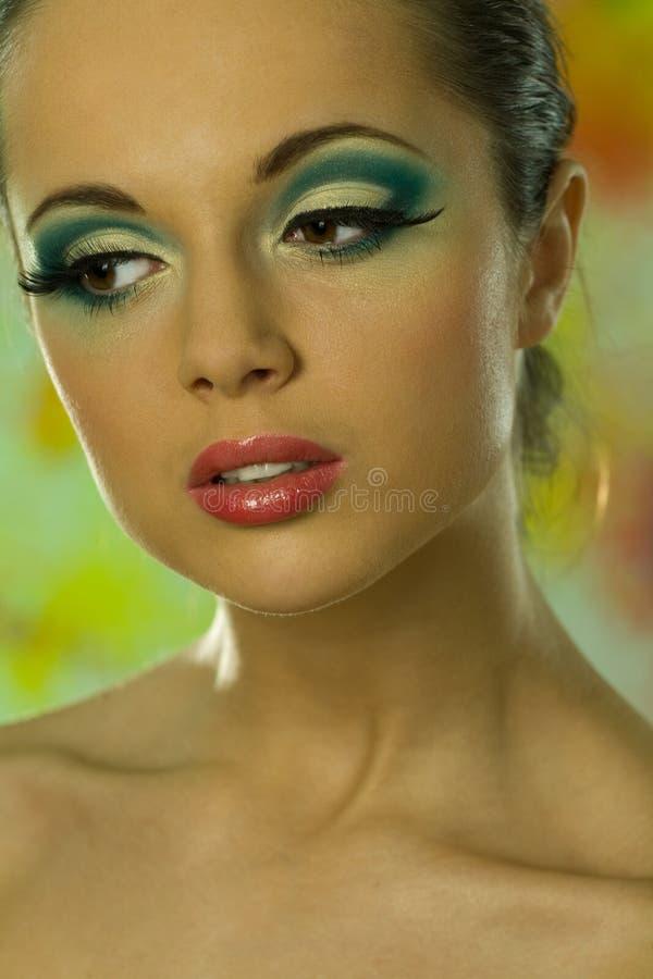 Retrato da tampa do modelo bonito imagens de stock royalty free