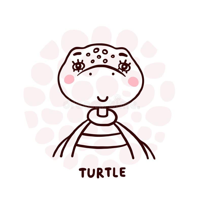 Retrato da Tartaruga Custa ilustração do vetor